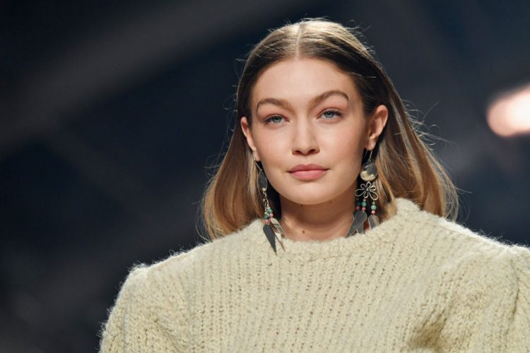 PARIS, FRANCE - FEBRUARY 27: (EDITORIAL USE ONLY) Gigi Hadid walks the runway during the Isabel Marant show as part of the Paris Fashion Week Womenswear Fall/Winter 2020/2021 on February 27, 2020 in Paris, France. (Photo by Stephane Cardinale - Corbis/Corbis via Getty Images)