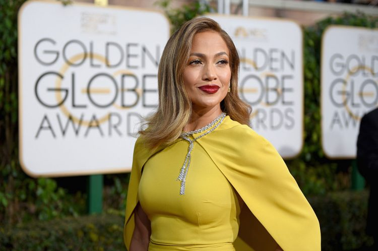 BEVERLY HILLS, CA - JANUARY 10:  73rd ANNUAL GOLDEN GLOBE AWARDS -- Pictured: Singer/actress Jennifer Lopez arrives to the 73rd Annual Golden Globe Awards held at the Beverly Hilton Hotel on January 10, 2016.  (Photo by Larry Busacca/NBCU Photo Bank/NBCUniversal via Getty Images via Getty Images)